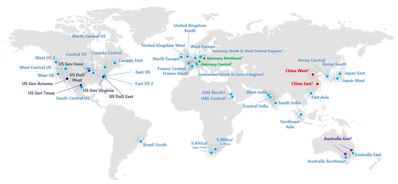 Azure Regions Datacenter Switzerland